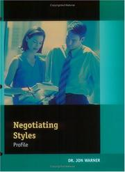 Cover of: Negotiation Style Instrument