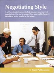 Cover of: Negotiation Style Instrument, Facilitator Guide