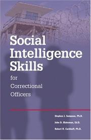 Cover of: Social Intelligence Skills for Correctional Officers