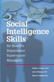 Cover of: Social INtelligence for Sheriff's Departments