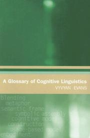 A Glossary of Cognitive Linguistics by Vyvyan Evans