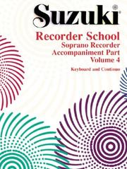 Cover of: Suzuki Recorder School
