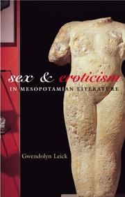 Cover of: Sex and Eroticism in Mesopotamian Literature
