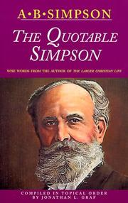 Cover of: Quotable Simpson