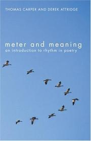 Cover of: Meter and meaning