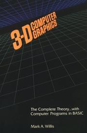Cover of: 3-D Computer Graphics Perspective Drawing With the Computer