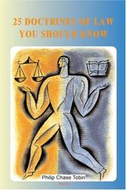 Cover of: 25 Doctrines of Law You Should Know