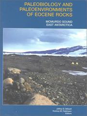 Cover of: Paleobiology and Paleoenvironments of Eocene Rocks, McMurdo Sound, East Antarctica (Antarctic Research Series) |
