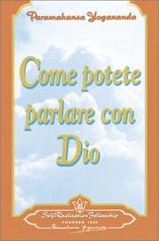 Cover of: Come Potete Parlare Con Dio/How You Can Talk With God