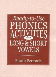 Cover of: Ready-To-Use Phonics Activities for Long and Short Vowels (Ready-To-Use) |