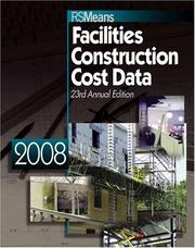 Cover of: Facilities Construction Cost Data 2008 (Facilities Construction Cost Data) |