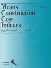 Cover of: Means Construction Cost Indexes 2000 (Means Construction Cost Indexes) |