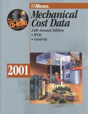 Cover of: Mechanical Cost Data 2001