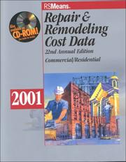Cover of: Rsmeans Repair & Remodeling Cost Data 2001 (Means Repair and Remodeling Cost Data, 2001) | Howard M. Chandler