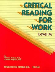 Cover of: Critical Reading for Work, Level M (Critical Reading for Work Series) | Vivienne Hodges