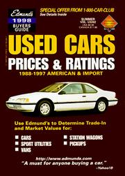 Cover of: Edmunds 1998 Used Cars Prices & Ratings | Edmunds Publications