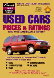 Cover of: Edmunds 1999 Used Cars Prices & Ratings | Edmunds Publications