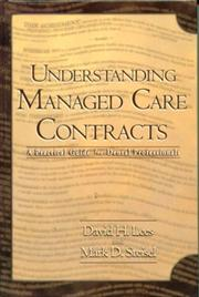 Cover of: Understanding Managed Care Contracts | David H. Lees