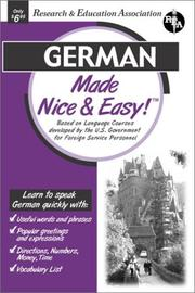 Cover of: German Made Nice & Easy (Languages Made Nice & Easy)