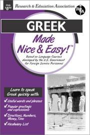 Cover of: Greek Made Nice & Easy (Languages Made Nice & Easy)