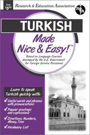 Cover of: Turkish Made Nice & Easy (Languages Made Nice & Easy)