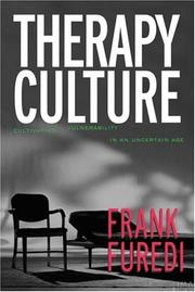 Cover of: Therapy Culture