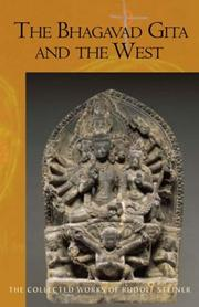 Cover of: The Bhagavad Gita and the West | Rudolf Steiner