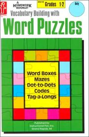 Cover of: Vocabulary Building With Word Puzzles, Grades 1-2 | Renee Cummings