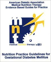 Cover of: ADA Mnt Evidence-Based Guides for Practice