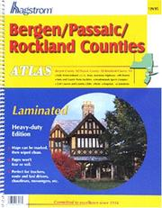 Cover of: Bergen/Passaic/Rockland Laminated Atlas | Hagstrom