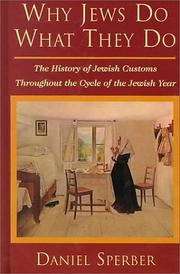 Cover of: Why Jews Do What They Do