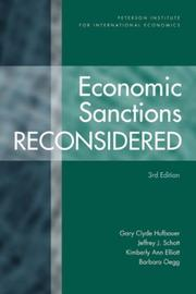 Cover of: Economic sanctions reconsidered