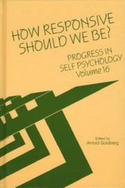 Cover of: How Responsive Should We Be?
