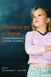 Cover of: Education for a Change