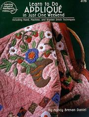 Cover of: Learn to do Applique in Just One Weekend | Nancy Daniel