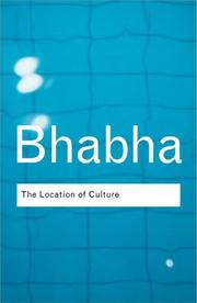 Cover of: The location of culture | Homi K. Bhabha