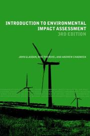 Cover of: Introduction to Environmental Impact Assesment