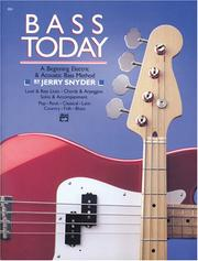Cover of: Bass Today