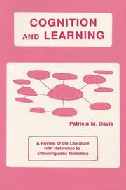 Cover of: Cognition and Learning