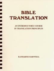 Cover of: Bible Translation