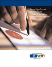 Cover of: Sample Union Contract Language Manual