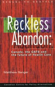 Cover of: Reckless Abandon | Matthew Sanger