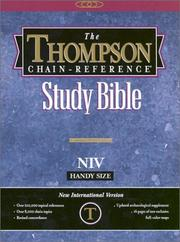 Cover of: Thompson Chain-Reference Study Bible-NIV-Handy Size |