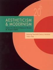 Cover of: Aestheticism and modernism