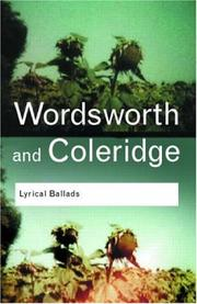 Cover of: Lyrical ballads | William Wordsworth