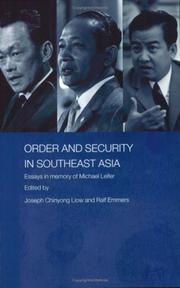 Cover of: Order and Security in Southeast Asia  Essays in Memory of Michael Leifer (Routledge Politics in Asia)