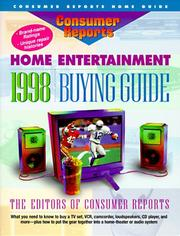 Cover of: The Consumer Reports Home Entertainment 1998 Buying Guide (Consumer Reports Home Entertainment Buying Guide) | Consumer Reports