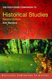 Cover of: The Routledge companion to historical studies