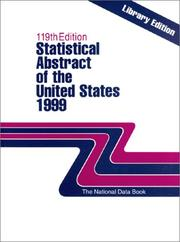 Cover of: Statistical Abstract of the United States 1999 | United States. Bureau of the Census