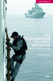Cover of: The Proliferation Security Initiative | Mark J. Valencia